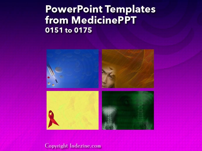 PowerPoint Templates from MedicinePPT 007: Designs 0151 to 0175