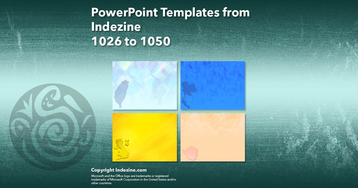PowerPoint Templates from Indezine 042: Designs 1026 to 1050