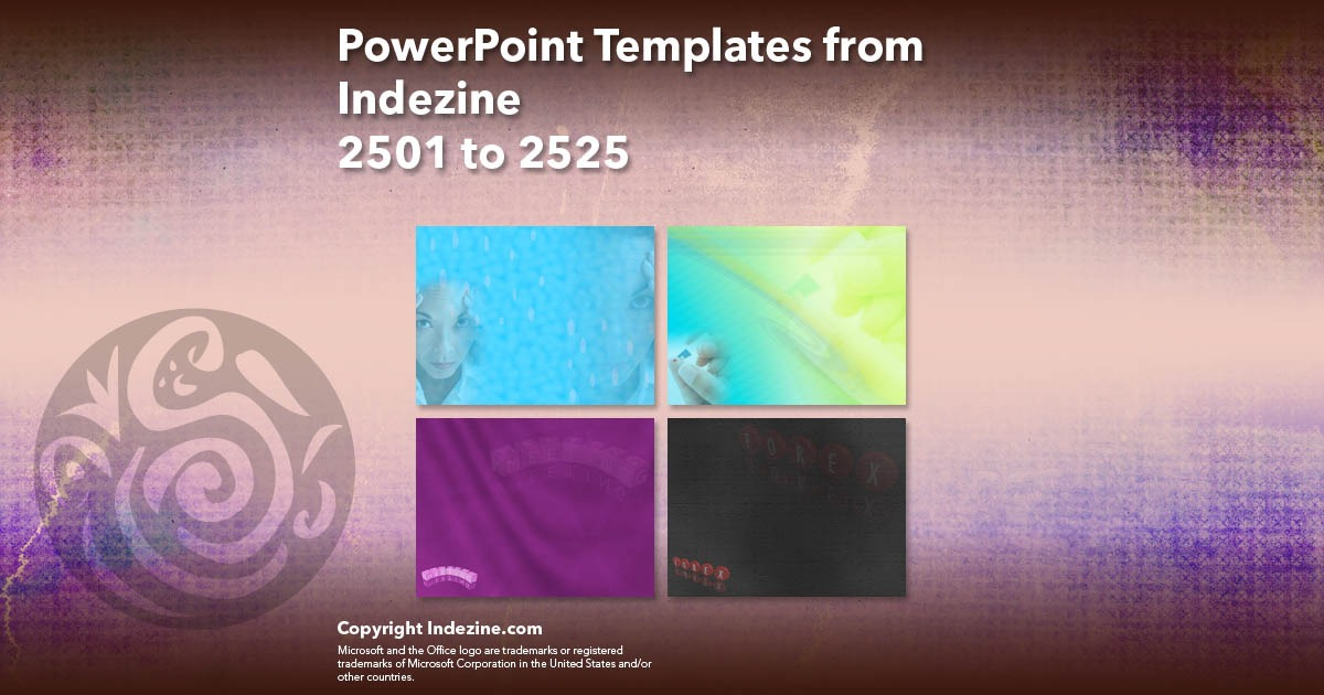 PowerPoint Templates from Indezine 101: Designs 2501 to 2525