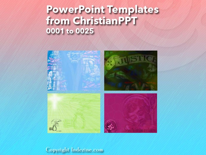 PowerPoint Templates from ChristianPPT 001: Designs 0001 to 0025