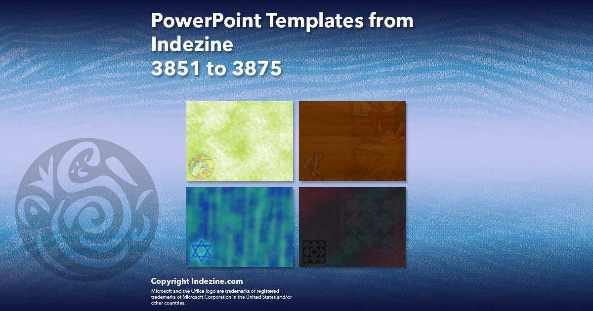 PowerPoint Templates from Indezine 155: Designs 3851 to 3875