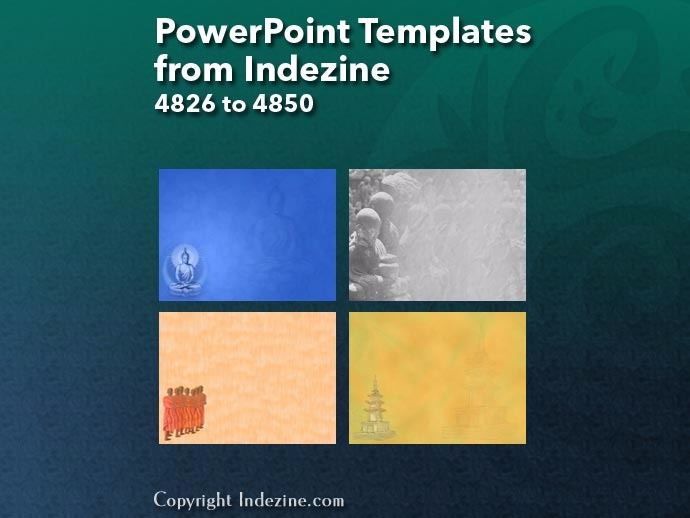 PowerPoint Templates from Indezine 194: Designs 4826 to 4850