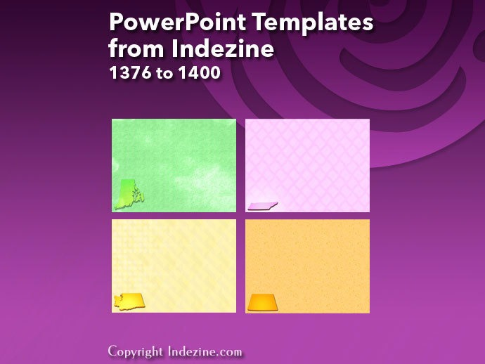 PowerPoint Templates from Indezine 056: Designs 1376 to 1400