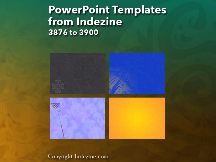 PowerPoint Templates from Indezine 156: Designs 3876 to 3900