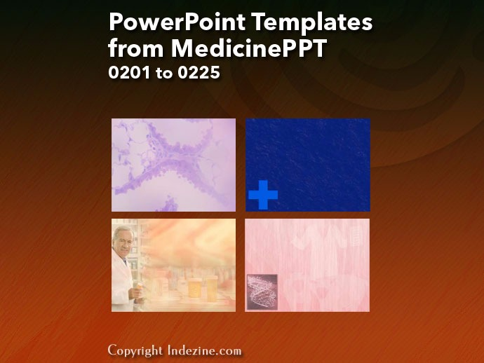 PowerPoint Templates from MedicinePPT 009: Designs 0201 to 0225