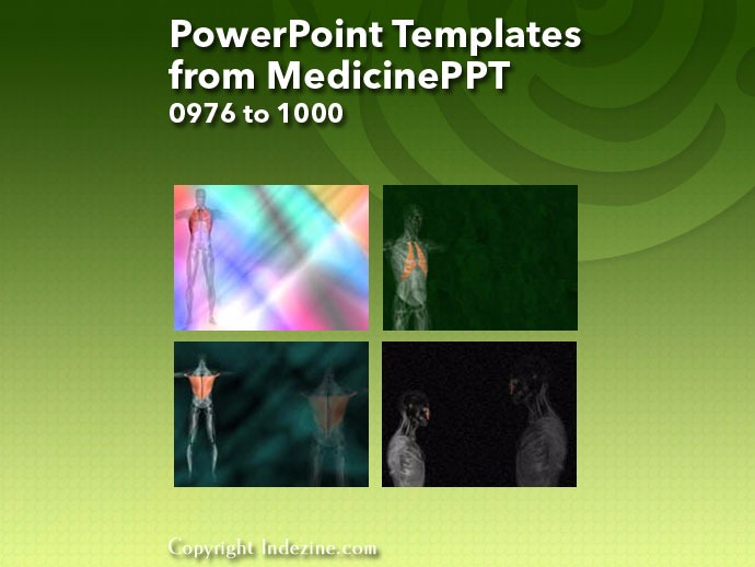 PowerPoint Templates from MedicinePPT 040: Designs 0976 to 1000