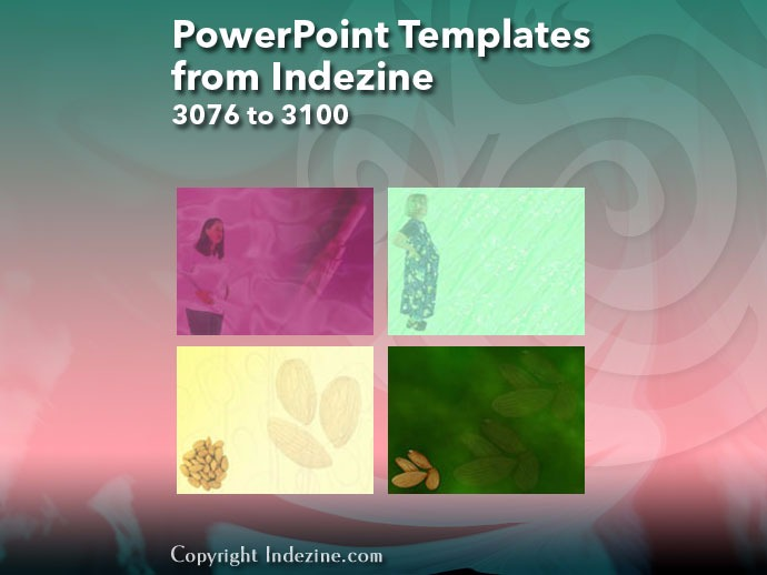 PowerPoint Templates from Indezine 124: Designs 3076 to 3100
