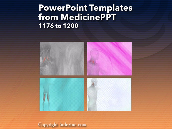 PowerPoint Templates from MedicinePPT 048: Designs 1176 to 1200
