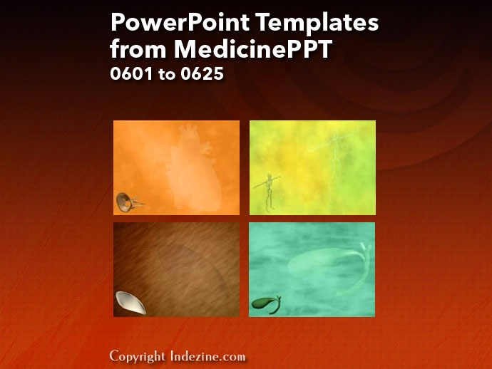 PowerPoint Templates from MedicinePPT 025: Designs 0601 to 0625