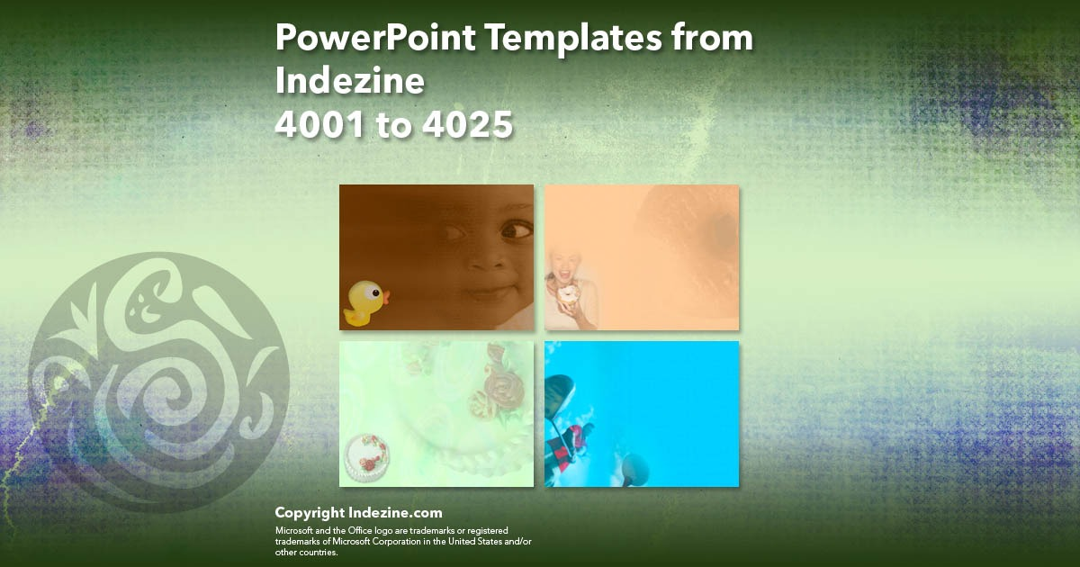 PowerPoint Templates from Indezine 161: Designs 4001 to 4025