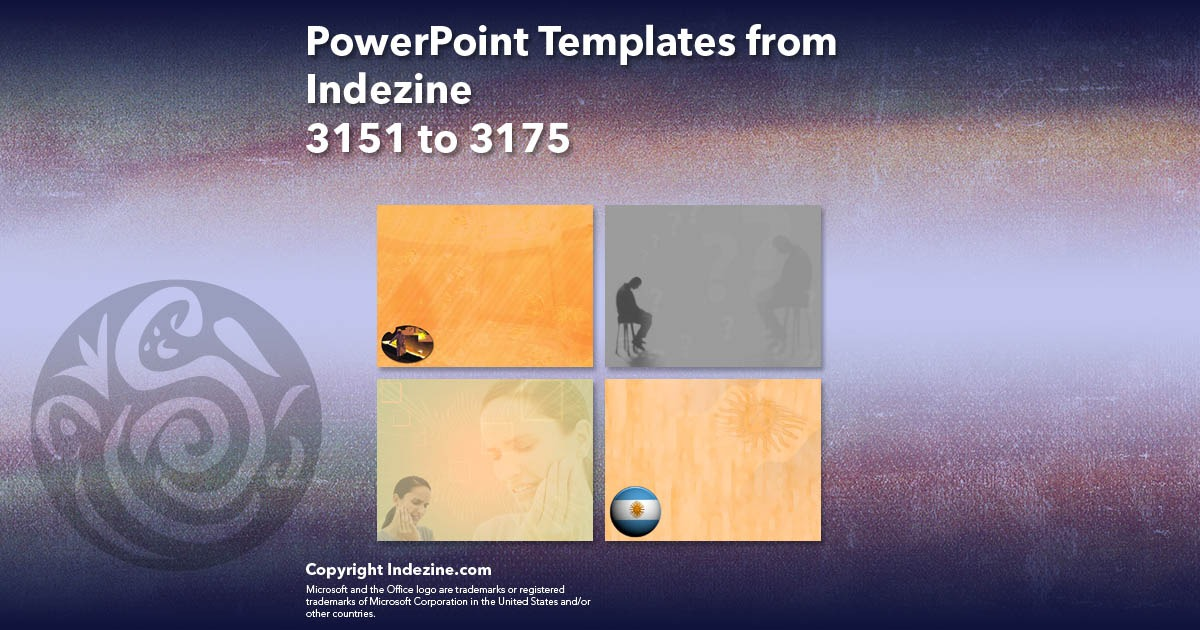 PowerPoint Templates from Indezine 127: Designs 3151 to 3175