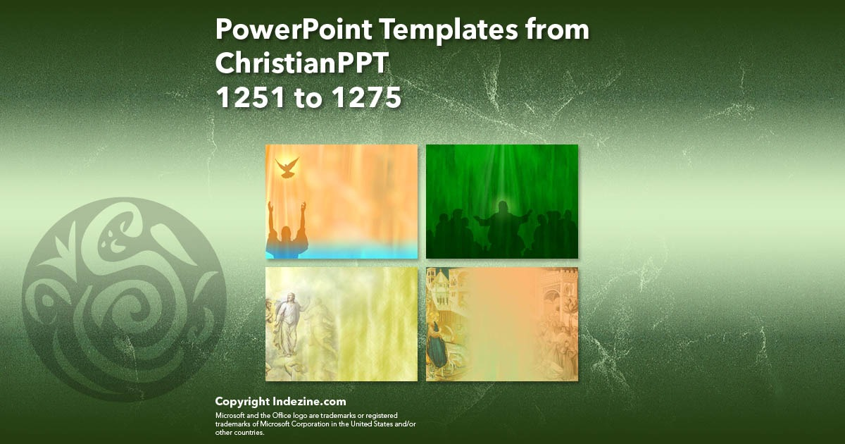 PowerPoint Templates from ChristianPPT 051: Designs 1251 to 1275