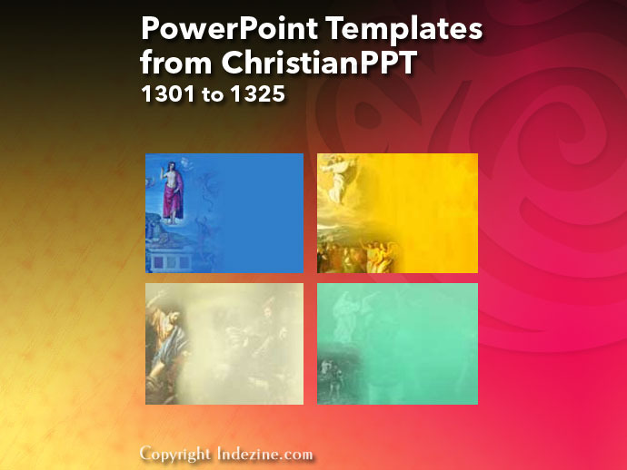 PowerPoint Templates from ChristianPPT 053: Designs 1301 to 1325