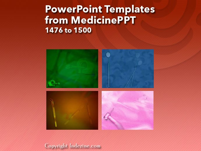 PowerPoint Templates from MedicinePPT 060: Designs 1476 to 1500