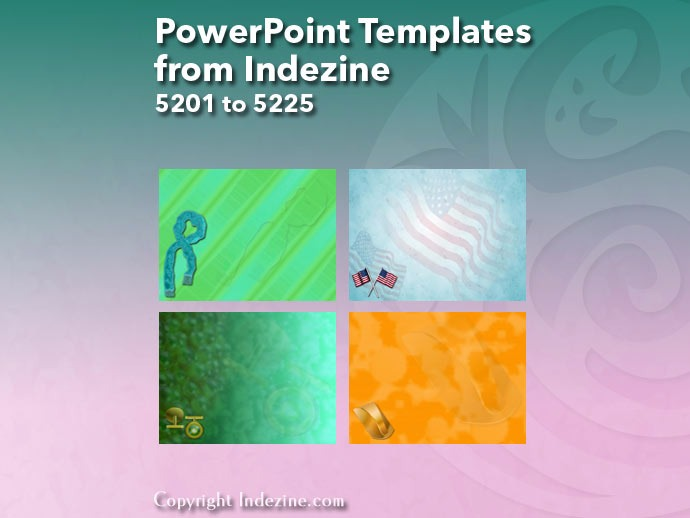 PowerPoint Templates from Indezine 209: Designs 5201 to 5225