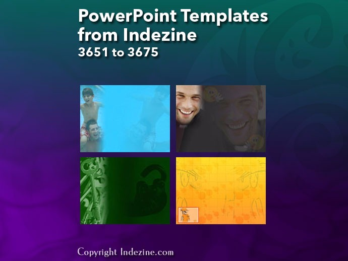 PowerPoint Templates from Indezine 147: Designs 3651 to 3675