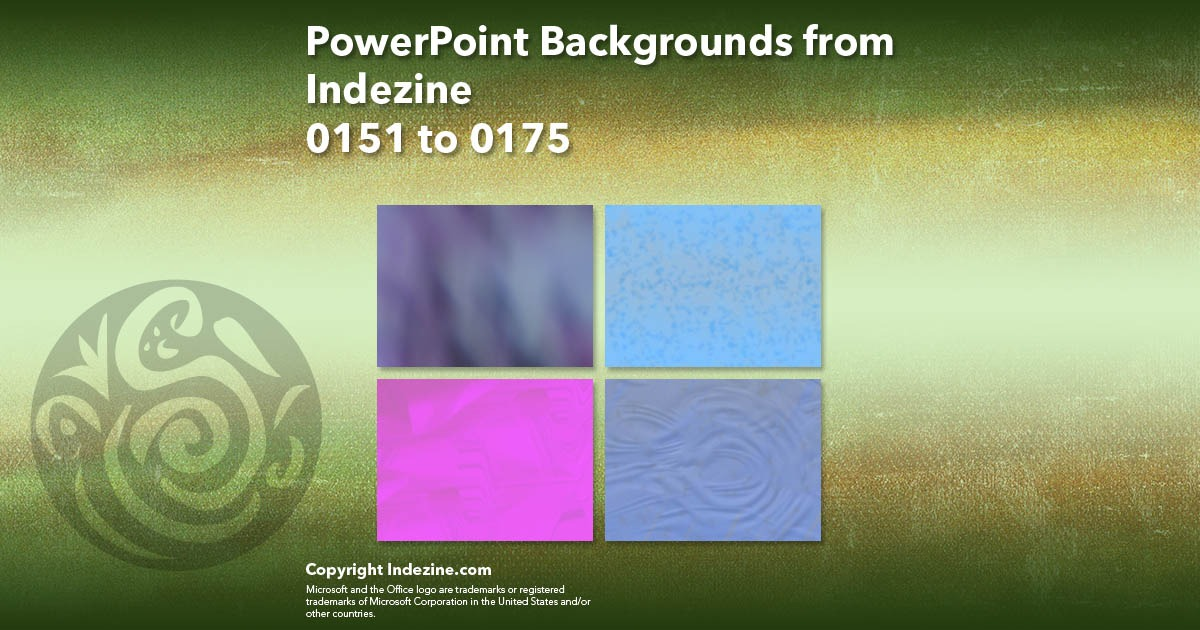 PowerPoint Backgrounds from Indezine 007: Designs 0151 to 0175