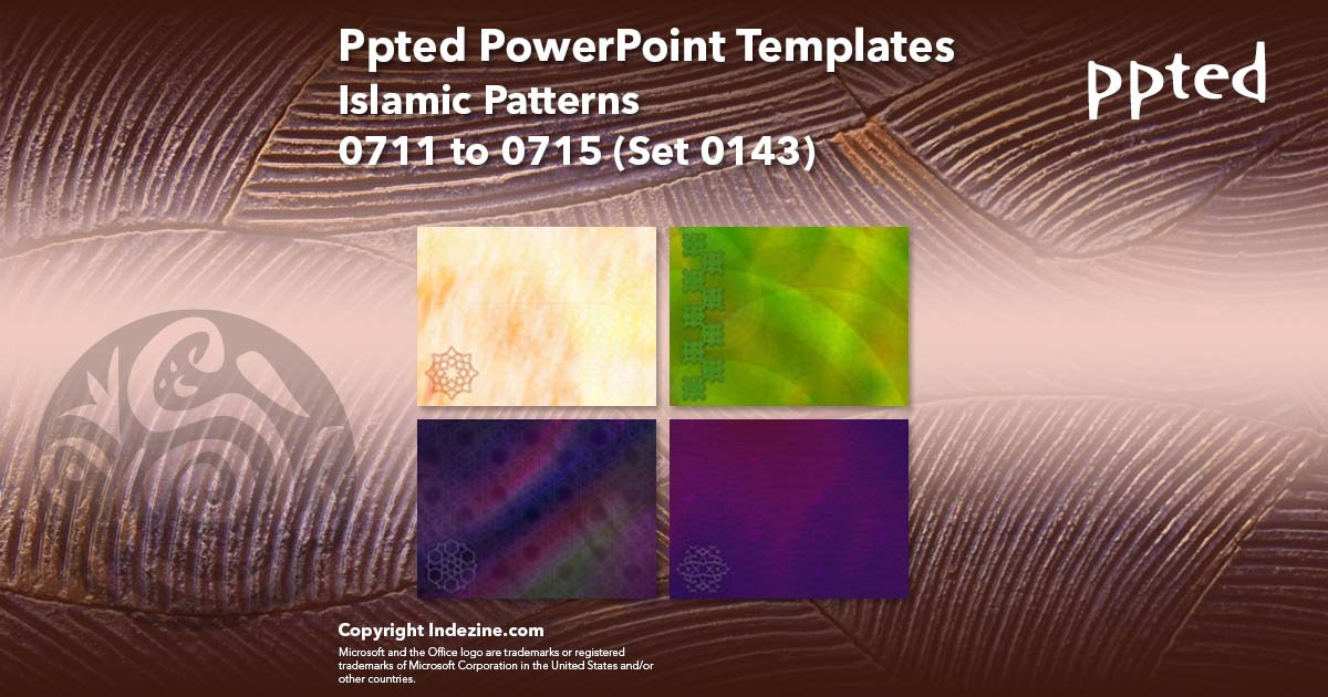 Ppted PowerPoint Templates 143: Islamic Patterns