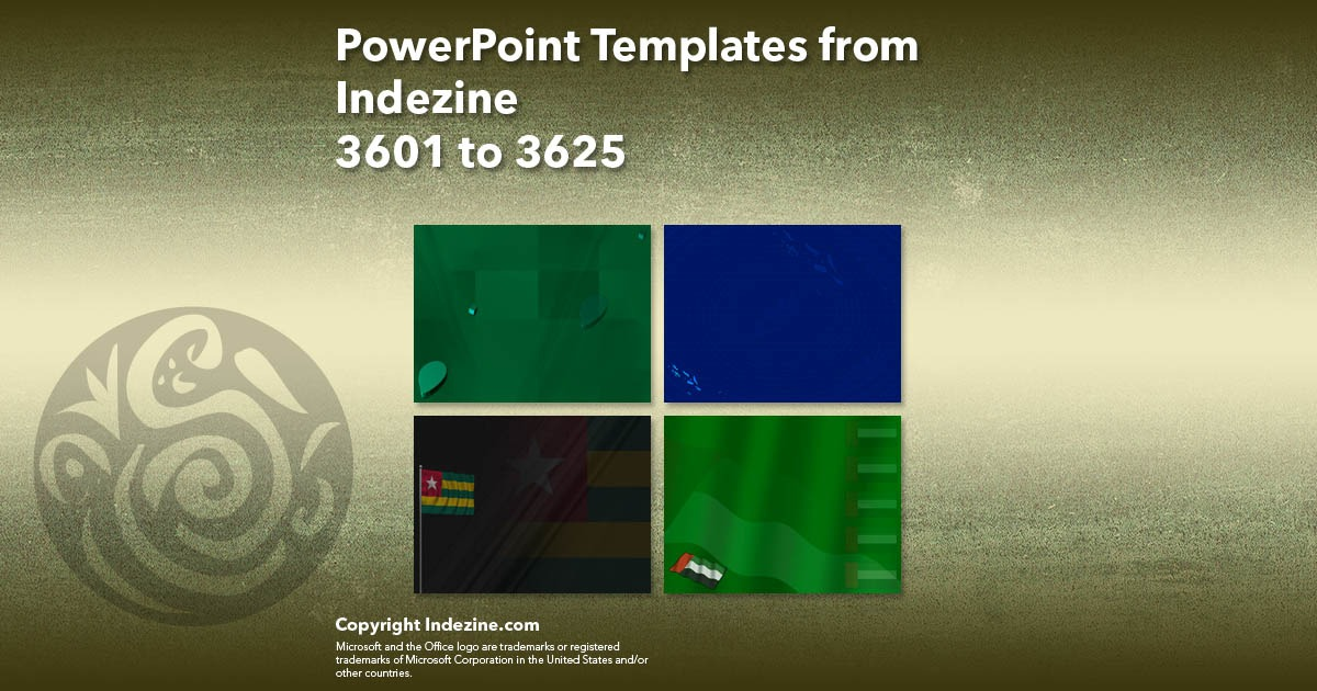 PowerPoint Templates from Indezine 145: Designs 3601 to 3625