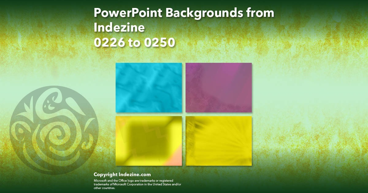 PowerPoint Backgrounds from Indezine 010: Designs 0226 to 0250