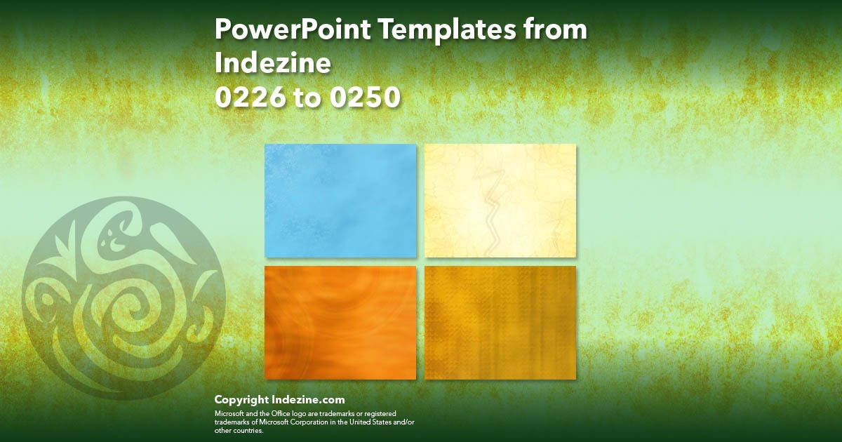 PowerPoint Templates from Indezine 010: Designs 0226 to 0250