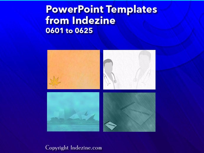 PowerPoint Templates from Indezine 025: Designs 0601 to 0625