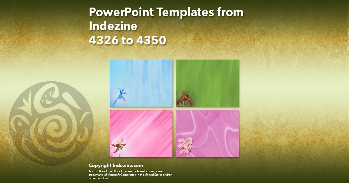 PowerPoint Templates from Indezine 174: Designs 4326 to 4350