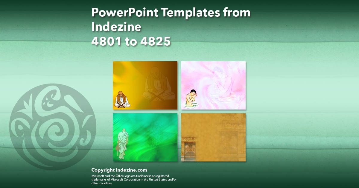 PowerPoint Templates from Indezine 193: Designs 4801 to 4825