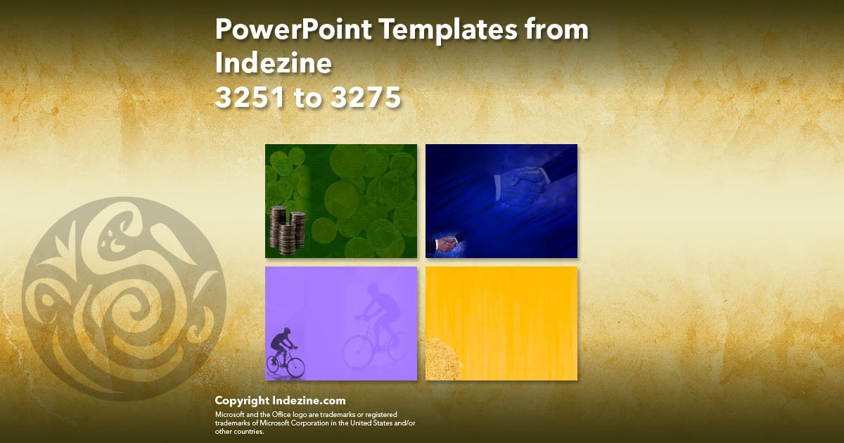 PowerPoint Templates from Indezine 131: Designs 3251 to 3275