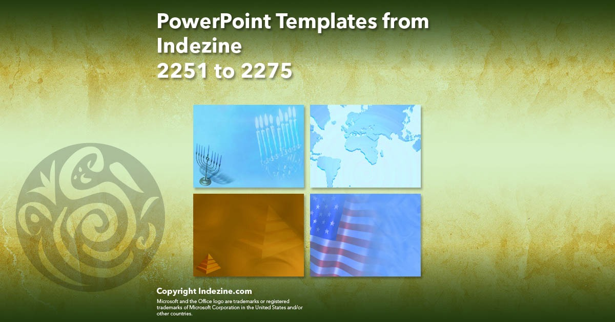 PowerPoint Templates from Indezine 091: Designs 2251 to 2275