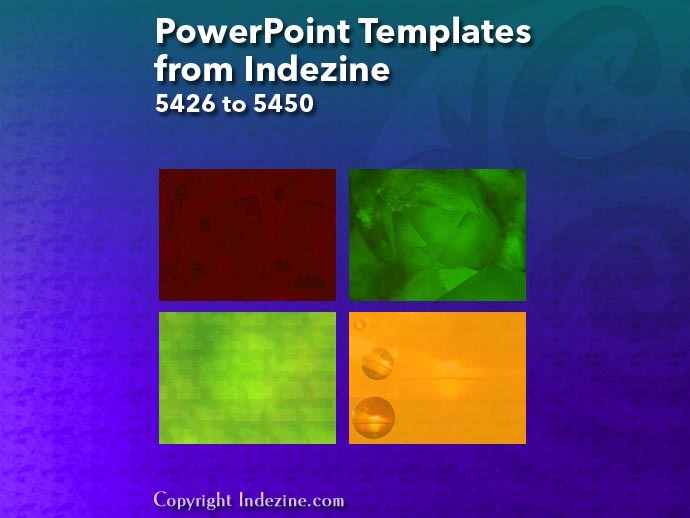PowerPoint Templates from Indezine 218: Designs 5426 to 5450