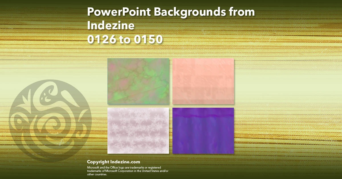 PowerPoint Backgrounds from Indezine 006: Designs 0126 to 0150