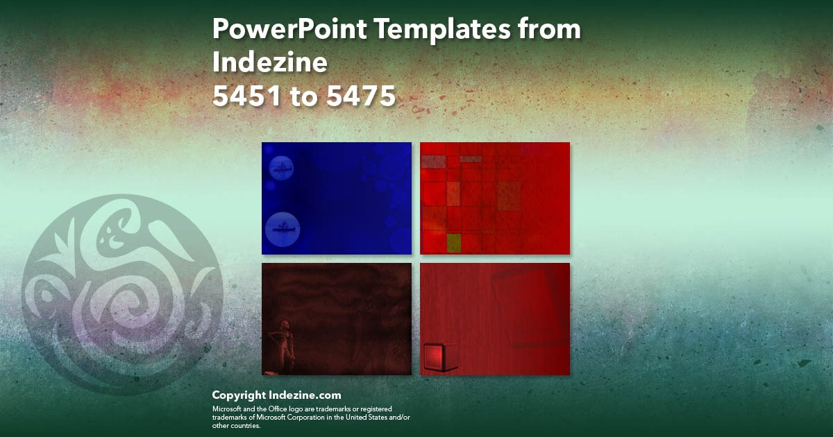 PowerPoint Templates from Indezine 219: Designs 5451 to 5475