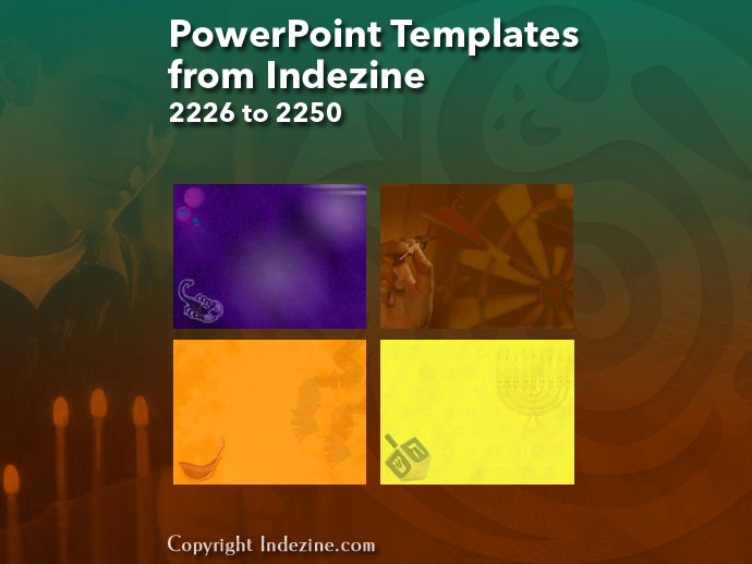 PowerPoint Templates from Indezine 090: Designs 2226 to 2250