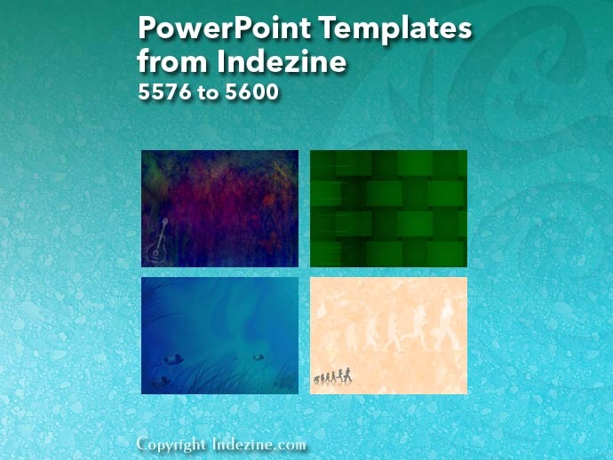 PowerPoint Templates from Indezine 224: Designs 5576 to 5600