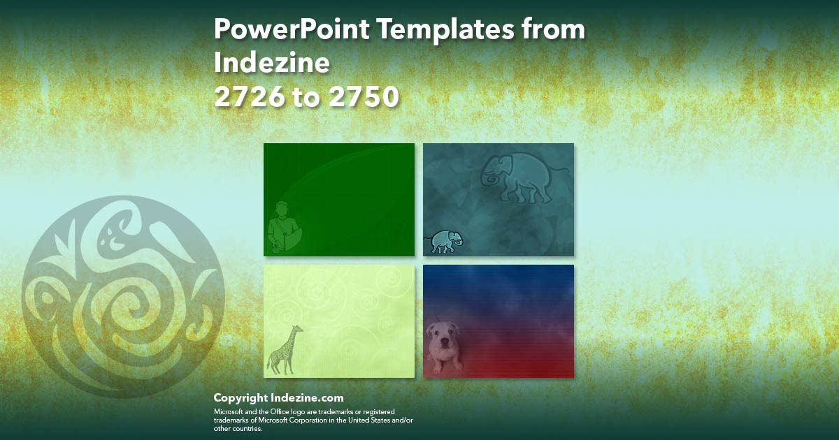 PowerPoint Templates from Indezine 110: Designs 2726 to 2750