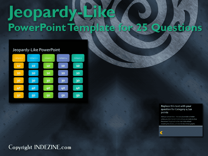 Jeopardy-Like PowerPoint Template (25 Questions)