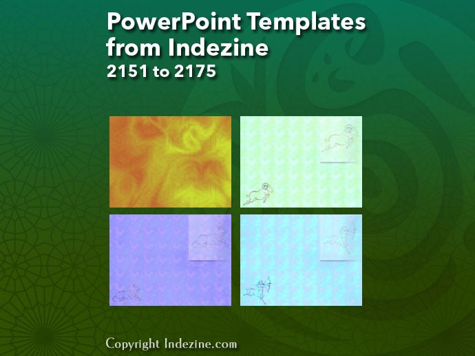 PowerPoint Templates from Indezine 087: Designs 2151 to 2175