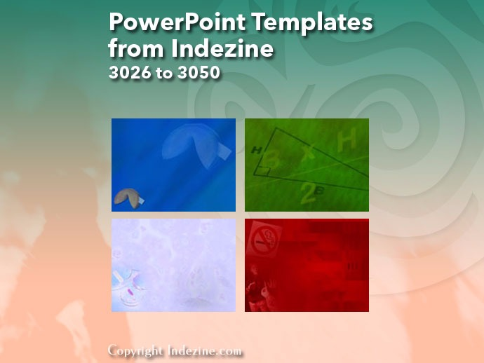 PowerPoint Templates from Indezine 122: Designs 3026 to 3050