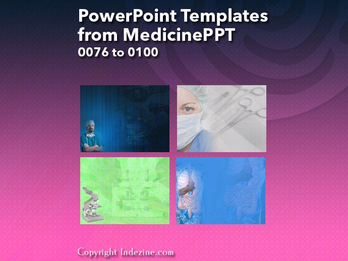 PowerPoint Templates from MedicinePPT 004: Designs 0076 to 0100