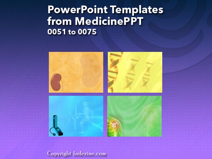 PowerPoint Templates from MedicinePPT 003: Designs 0051 to 0075