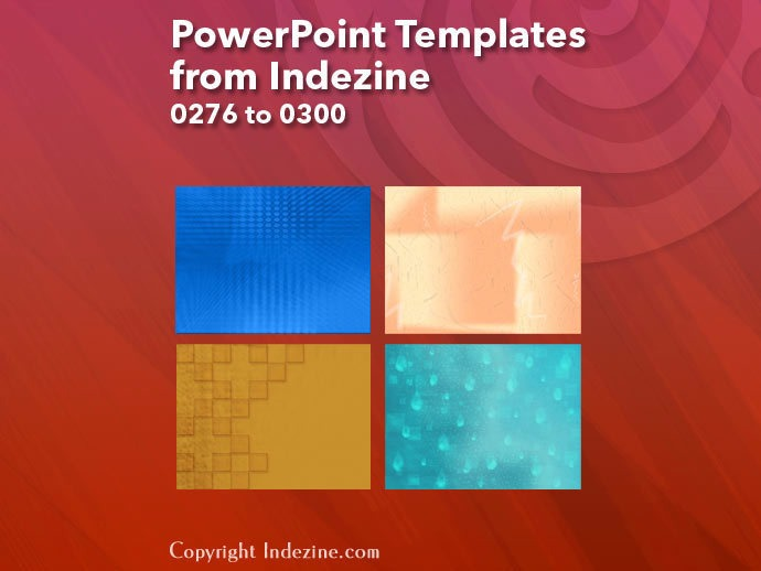 PowerPoint Templates from Indezine 012: Designs 0276 to 0300