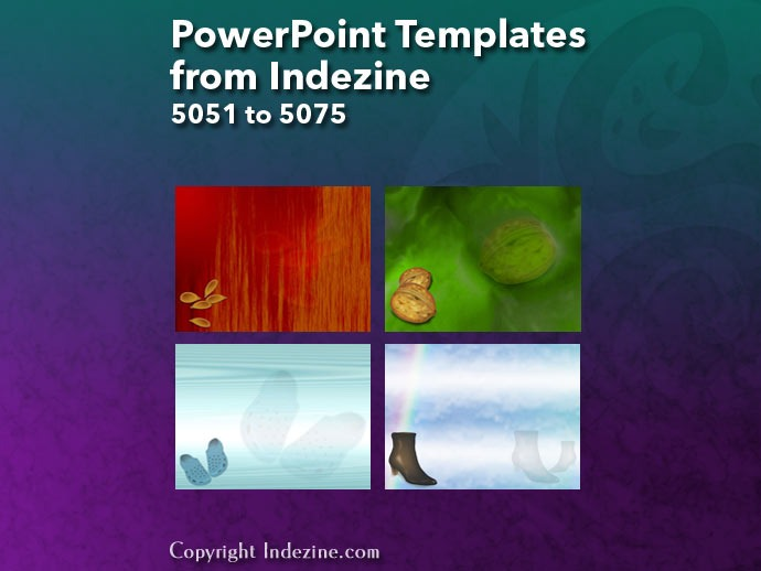 PowerPoint Templates from Indezine 203: Designs 5051 to 5075
