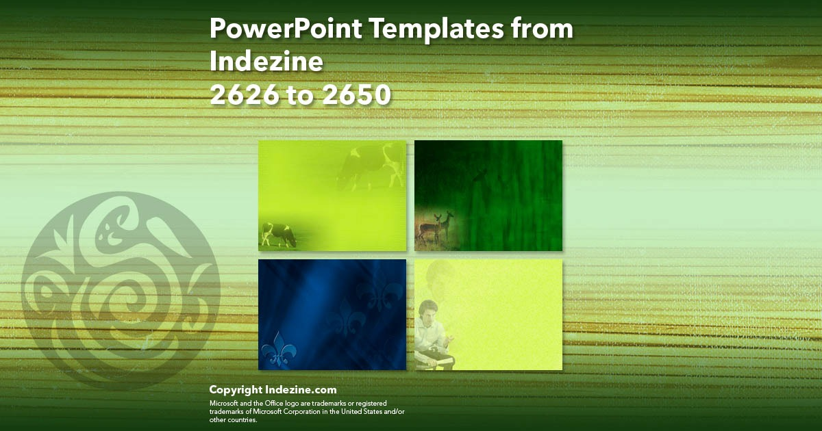 PowerPoint Templates from Indezine 106: Designs 2626 to 2650