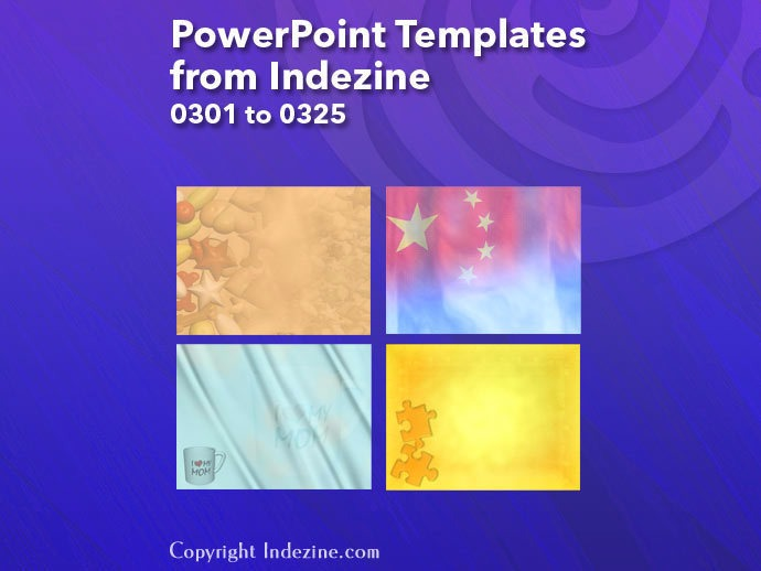 PowerPoint Templates from Indezine 013: Designs 0301 to 0325