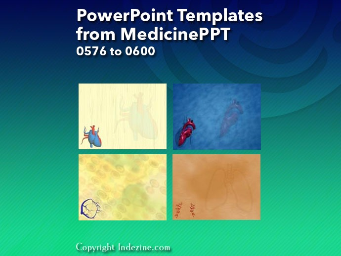 PowerPoint Templates from MedicinePPT 024: Designs 0576 to 0600