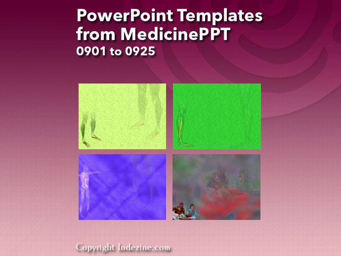 PowerPoint Templates from MedicinePPT 037: Designs 0901 to 0925
