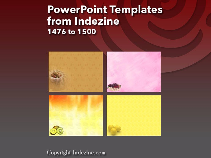 PowerPoint Templates from Indezine 060: Designs 1476 to 1500