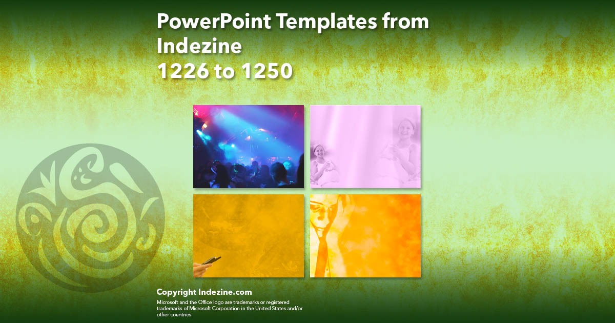 PowerPoint Templates from Indezine 050: Designs 1226 to 1250