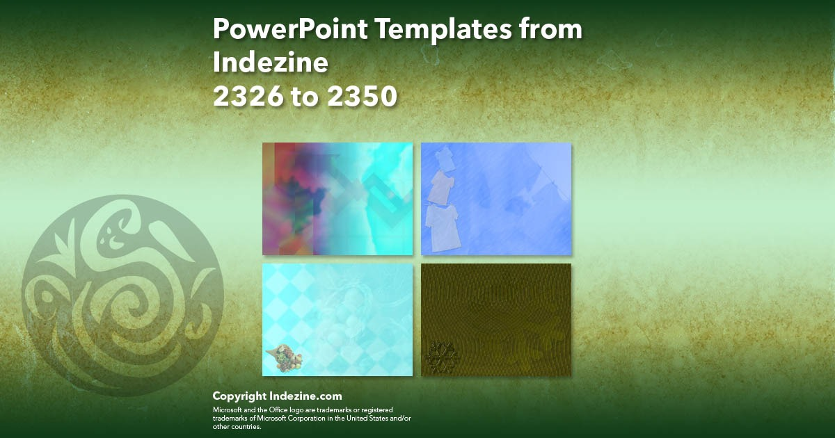 PowerPoint Templates from Indezine 094: Designs 2326 to 2350